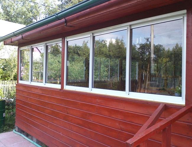 раздвижные окна для веранды