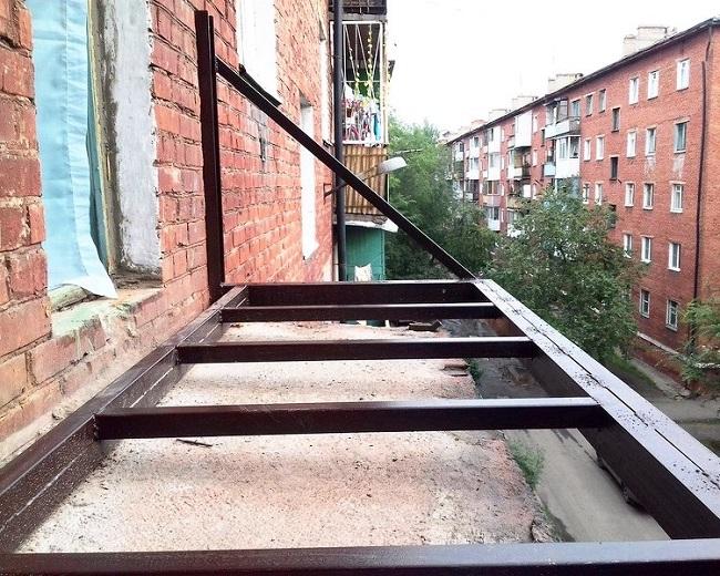 усиление плиты балкона
