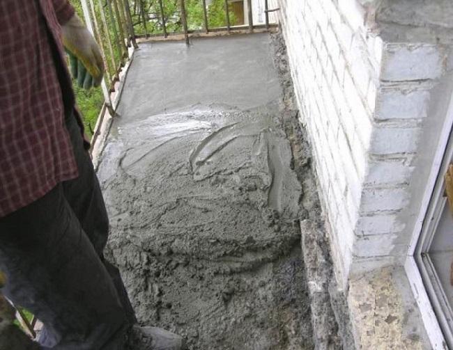 полная реставрация балконной плиты