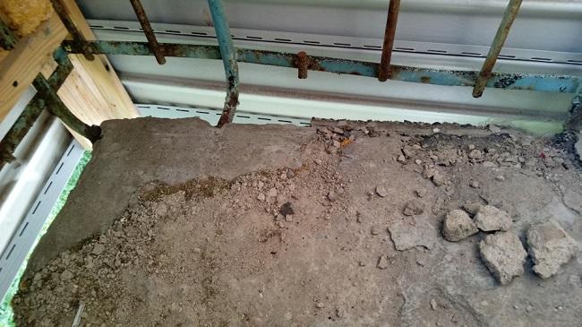 подготовка балконной плиты