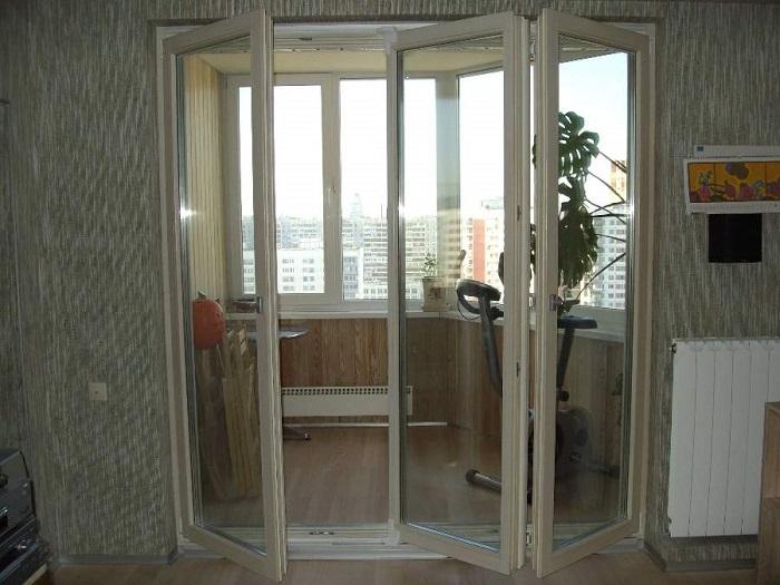 двери гармошка для балкона