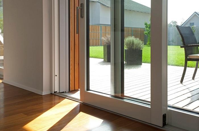 раздвижная дверь на террасу