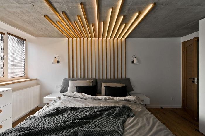 рейки на потолке со светом