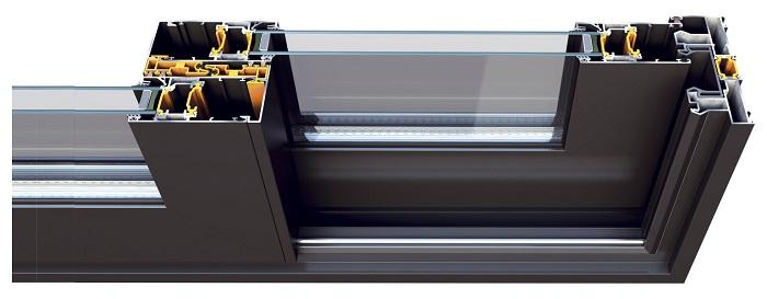 раздвижные теплые алюминиевые двери на балкон