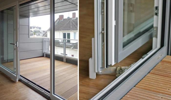 наклонно-раздвижные двери для балкона