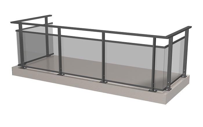 ограждение для балкона экранного типа