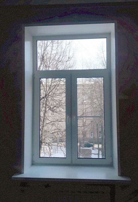 окна с глухой фрамугой