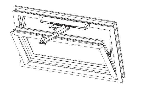 электропривод для фрамуги окна