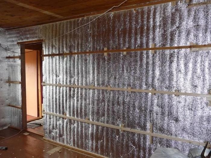 утепление стен фольгоизолом