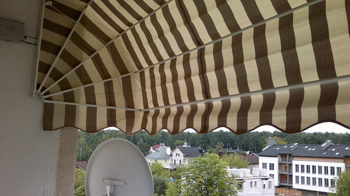 маркизы корзинного типа на балкон