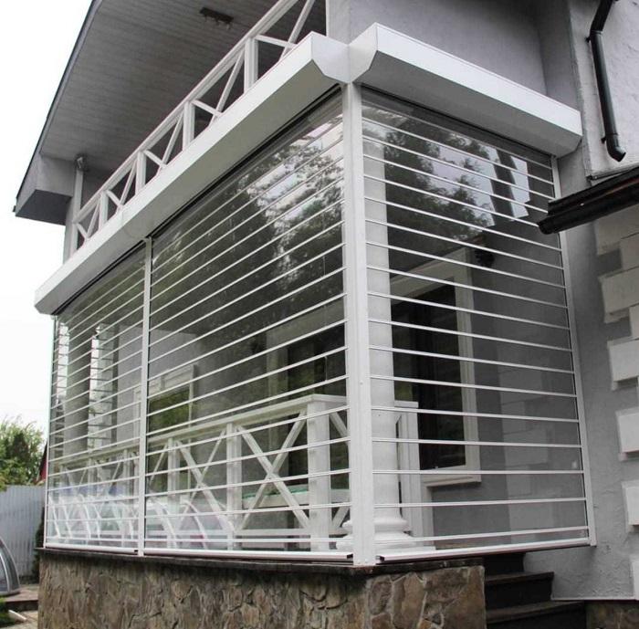 прозрачные рольставни на балкон